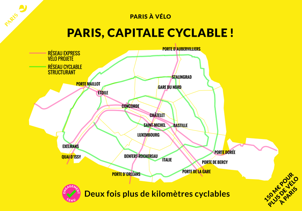 plan velo paris